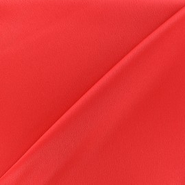 Crepe with satin reverse side Fabric - grenadine  x 10cm