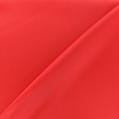 Crepe with satin reverse side Fabric - grenadine  x 10cm