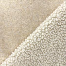 Fourrure mouton réversible lurex - doré x 10cm