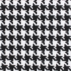 Cotton Canvas Fabric Black and white - Houndstooth x 10cm