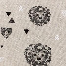 Tissu toile coton Jungle - lin x 20cm