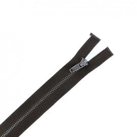 Fermeture Eclair® métal noir mat séparable - brou de noix