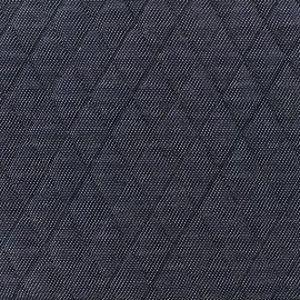 Tissu jersey matelassé Tilly - bleu x 10cm
