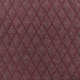 Quilted jersey fabric Polo - red x 10cm