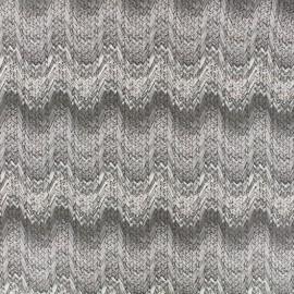Supple mitation leather aspect lainage - grey x 10cm