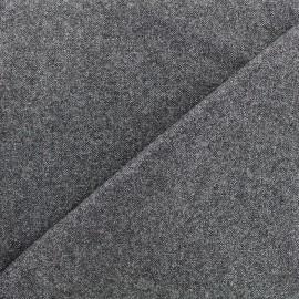 Wool fabric Tailleur lurex - grey x 10cm