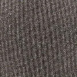 Wool fabric Tailleur lurex - brown x 10cm