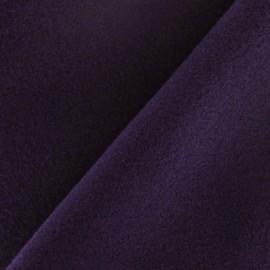 Coat wool fabric - purple ink x 10cm