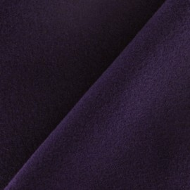 Coat wool fabric - purple ink x 10cm