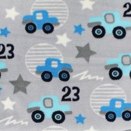 Minkee velvet fabric Tut Tut - blue x 10cm