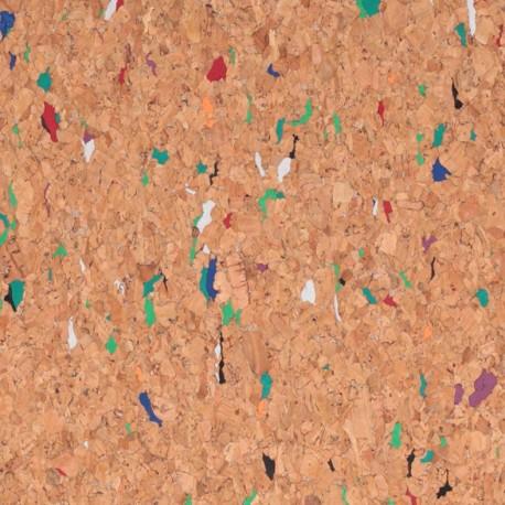 Tissu liège véritable - multi x 10cm