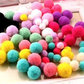 Pack of 300 pompoms - multi