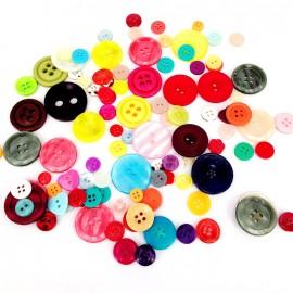 Lot de boutons en résine (200g) - multi