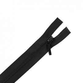 Thin moulded plastic open end zip eclair® - black