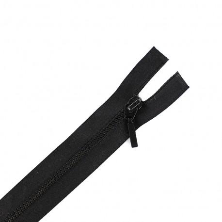 Thin moulded plastic open end zip eclair® - black