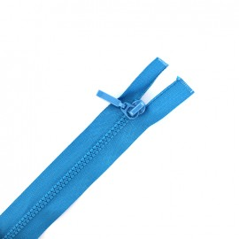 Thin moulded plastic open end zip eclair® - gipsy blue