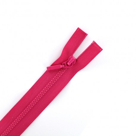 Thin moulded plastic open end zip eclair® - bright pink