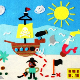 3D felt picture - Pirates