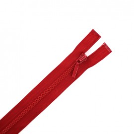Thin moulded plastic open end zip eclair® - bloody red