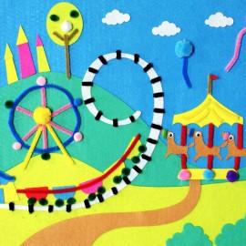 3D felt picture - Joli carrousel