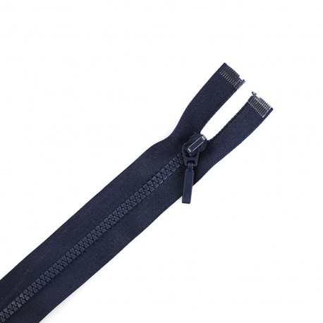 Thin moulded plastic closed bottom zip eclair® - navy blue