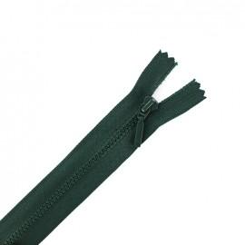 Fermeture Eclair® non séparable fine synthétique - vert lichen