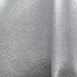 Mousse pailletée à découper - argent x 10cm