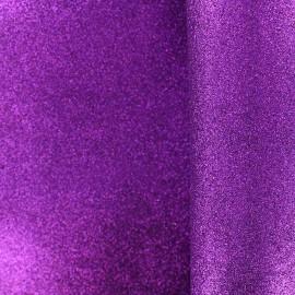 Mousse pailletée à découper - violet x 10cm