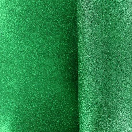 Mousse pailletée à découper - vert x 10cm