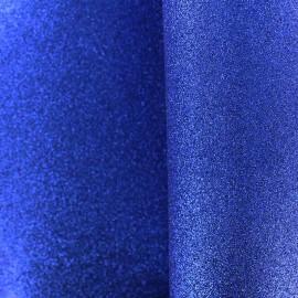 Mousse pailletée à découper - bleu roy x 10cm