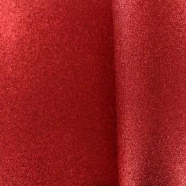 Mousse pailletée à découper - rouge x 10cm