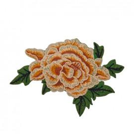 Thermocollant grande fleur brodée - beige