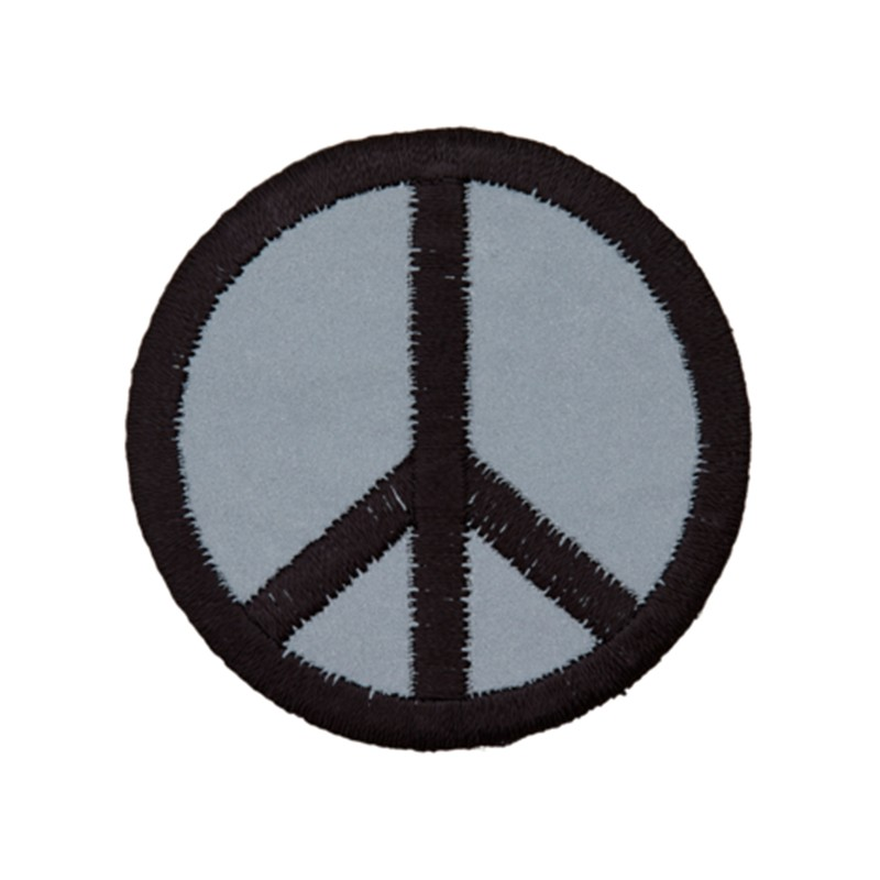 Peace And Love Iron On Patch Black And Grey Ma Petite Mercerie