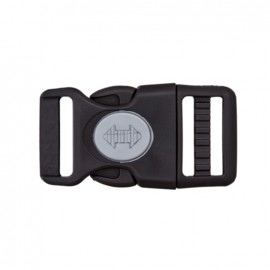 side release buckle with center lock - black and grey