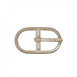 Boucle ceinture métal Casille Nickelé Mat 12 mm