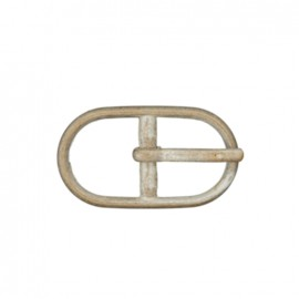Metal belt buckle Casille 12 mm – mat nickel-plated