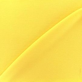 Tissu crêpe gaufré Linda - jaune x 10cm