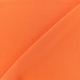 Embossed Crepe Fabric Linda - orange x 10cm