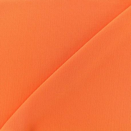Tissu crêpe gaufré Linda - orange x 10cm