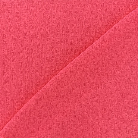 Tissu crêpe gaufré Linda - fuchsia x 10cm