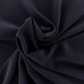 ♥ Coupon 120 cm X 140 cm ♥ Tissu crêpe gaufré Linda - marine