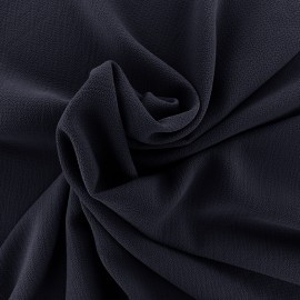 ♥ Coupon 40 cm X 140 cm ♥ Tissu crêpe gaufré Linda - marine