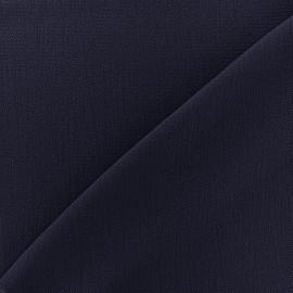 Tissu crêpe gaufré Linda - marine x 10cm