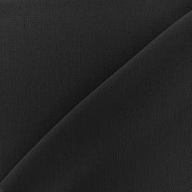 Tissu crêpe gaufré Linda - noir x 10cm