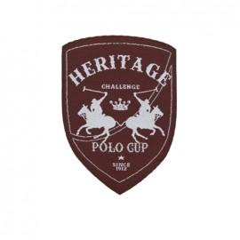 Thermocollant Blason Polo Cup Heritage - marron