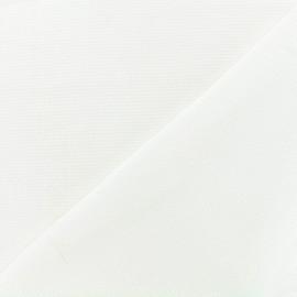 Tissu crêpe gaufré Linda - écru x 10cm