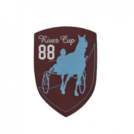 Thermocollant Blason Course de chevaux - marron