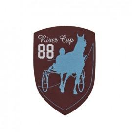 Thermocollant Blason Course de chevaux - marron