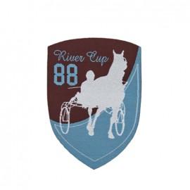 Thermocollant Blason Course de chevaux - marron et bleu