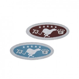 Thermocollant Ecusson chevaux (lot de 2) - marron et bleu